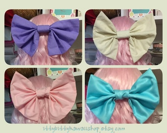 Large floppy solid color Kawaii bows