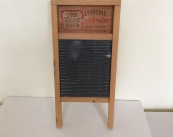 Primitive Vintage wooden wash board. Small size wooden wash board. Rustic wood was board.