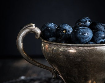 Still Life, Food Photography, Blueberries, Home Decor, Wall Art, Photography