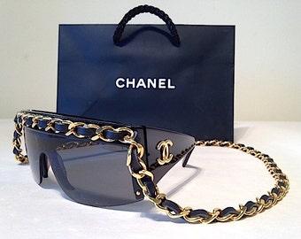 Vintage Chanel Chain Drop Sunglasses RARE! Authentic