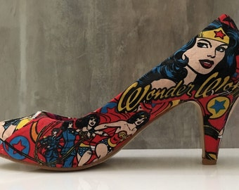 Wonder Woman superhero shoes
