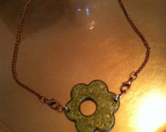 """19"""" brass necklace"""