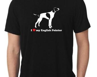I Love My English Pointer T-Shirt T1168