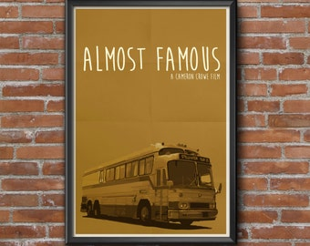 Almost Famous Movie Poster, Cameron Crowe, Billy Crudup, Jason Lee, Minimalist, Kate Hudson, Tiny Dancer, Patrick Fugit