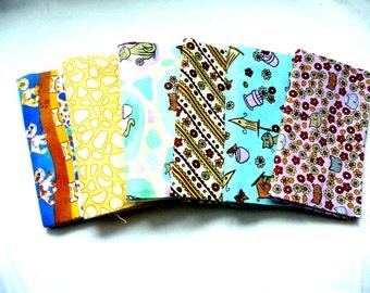cats fat quarter bundle with fat quarter of dog fabric