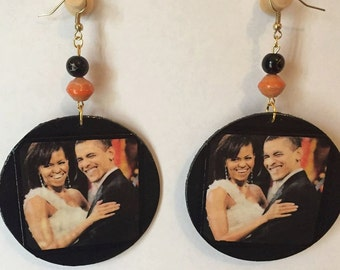 Barack and Michelle Earrings (Obama!)