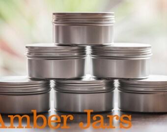 NEW 10 x 200ml Aluminium Jar with Wadded Lid  Candle Jar, Beard Balm Jar, Body Butter
