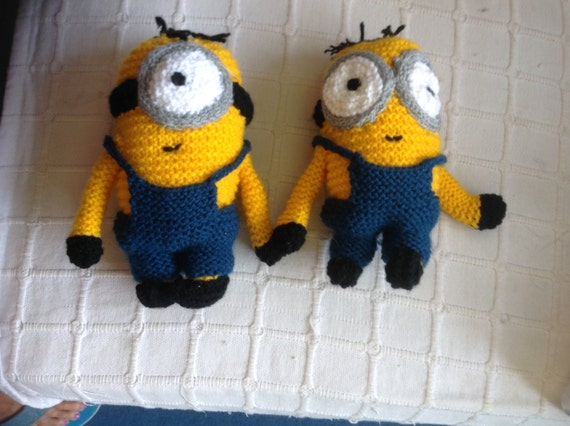 Items similar to Hand knitted Minion toys on Etsy