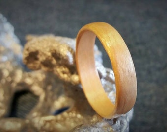 Maple Bent Wood Ring.  SIZES: 6 7 7.5 8.5 9.5 10 10.5 12.5 13.5