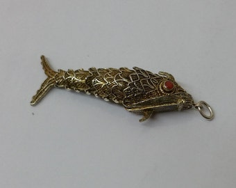 Ancient links perfume fish gold plated SK726