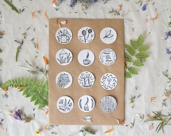 Sticker Set of 12