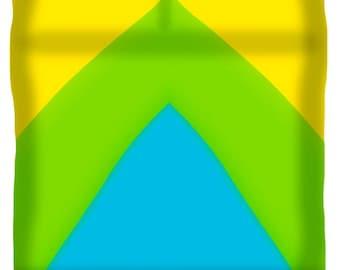 Lemon Lime Turquoise Abstract Minimalist Modern Contemporary Designer Duvet Cover,King,Queen,Full,Twin,Yellow,Blue,Green,Boho,Bohemian,Retro