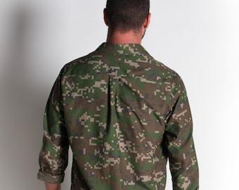Men's shirt / on by k / winter 2016 / handmade shirt / military shirt / mk14 / limited edition