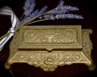 Vintage Stamp Holder in Solid Brass    Sku: C021