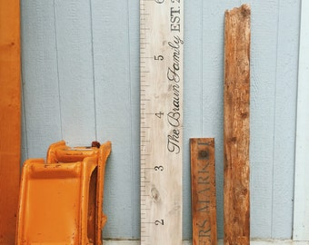 personalized growth chart, shabby chic