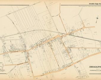 Amagansett Map, East Hampton, 1916
