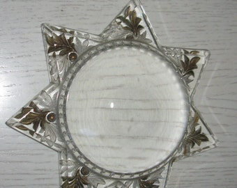 Antique Glass Star paperweight
