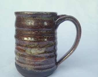 Handmade Ceramic Mug, Coffee Mug, Beer mug, 13 oz BMG6