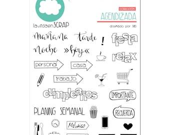 Stamp set - Agendizada