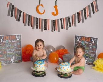 Deer Birthday Chalkboard / Woodland Birthday Chalkboard / Hunting Birthday Chalkboard / Deer Arrow Birthday / Boy First Birthday /Deer/Arrow