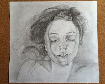 "Original one off pencil sketch ""peace"""