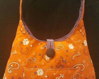 """Clemson University/Clemson Tigers/Handbag/ShoulderBag/Handmade """"Clemson"""" shoulder bag"""