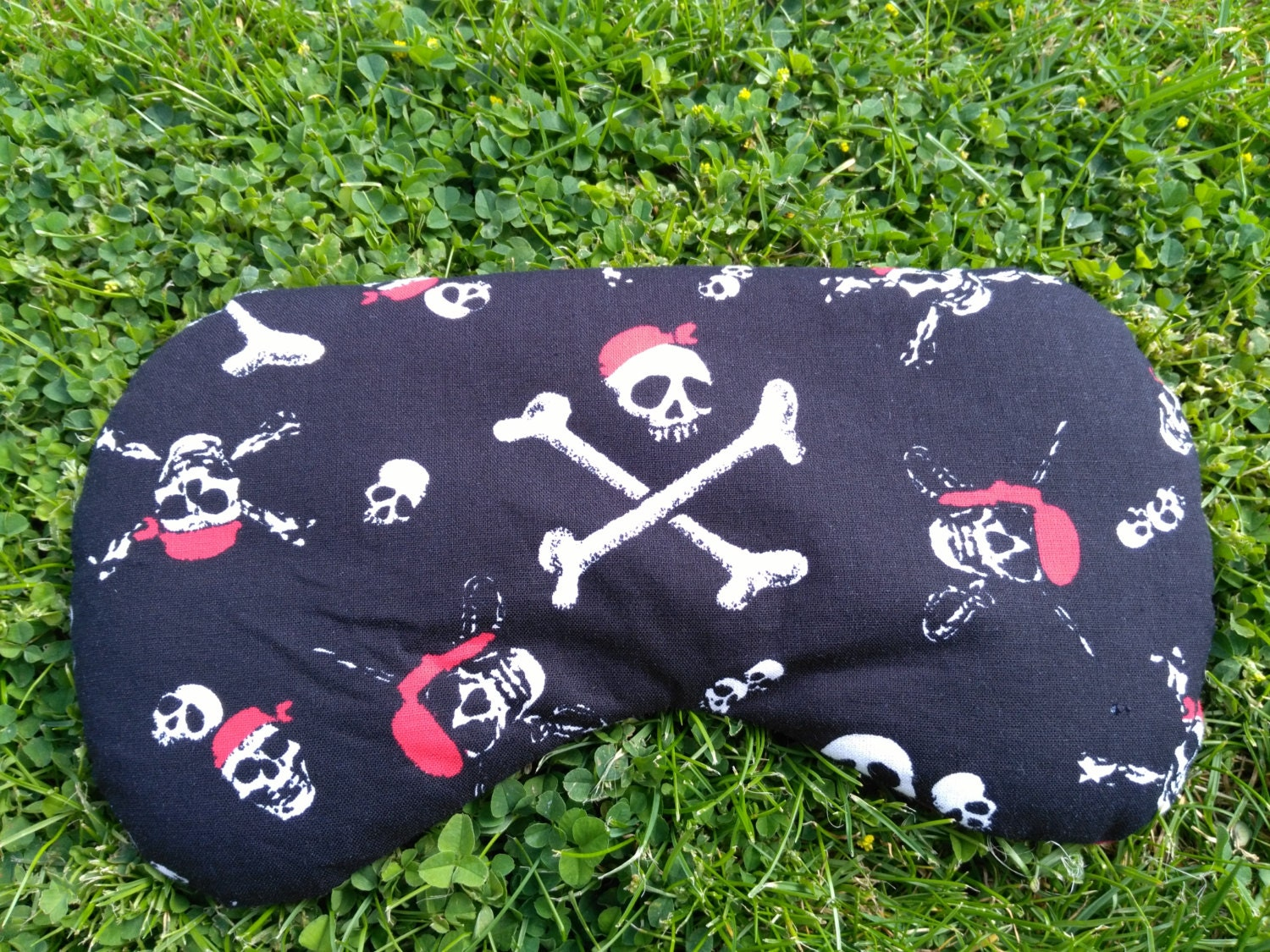 Aromatherapy lavender eye pillow mask with rice in a pirate