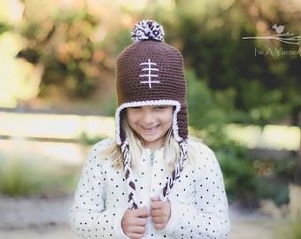 Football Hat, Football Beanie, Sports Hat, Football Team, Baby Photo Prop, Newborn Team Hat, Baby Shower Gift, Sports Theme Gift, Boy Hat