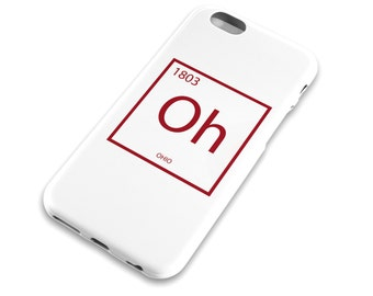 Table of elements etsy ohio element cell phone case columbus cincinatti red dayton periodic table urtaz Choice Image