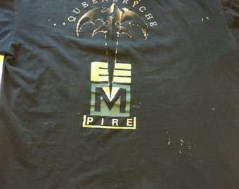 Vintage 1991 Queensryche Building Empires Tour T Shirt