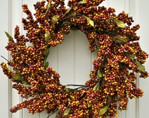 Mixed Berry Wreath~Bittersweet Wreath~Front Door Wreath~Year Around Wreath