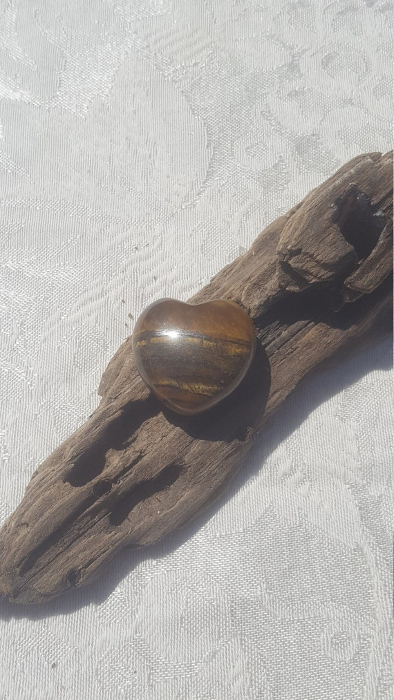 Small heart shaped Tiger's Eye stone