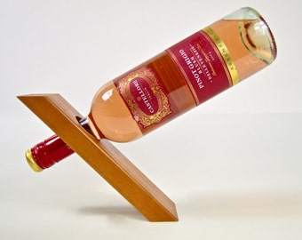 Gravity illusion Wine Bottle Stand solid wood, floating Bottle Holder champagne