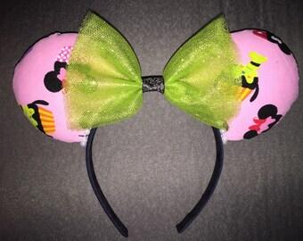 Cupcake Minnie/Mickey ears