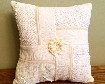 26-10-15 Patchwork Ivory Pillow