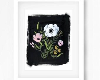 White Poppy Print