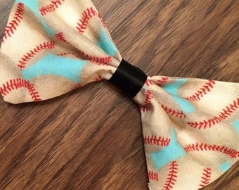 Baseball hair bow/baseball bow tie/baby/bow/tie/baseball