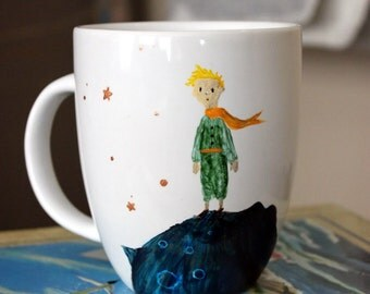 The Little Prince hand painted book mug