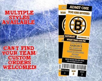 Boston Bruins Ticket Invitation