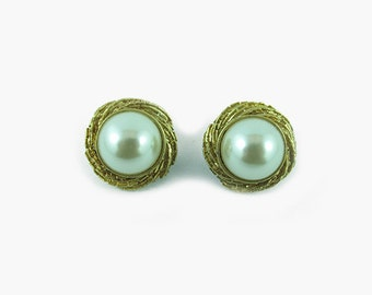 Harlequin Market Faux Pearl Earrings