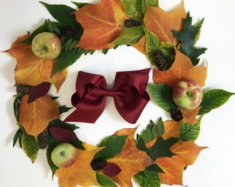 Grand Cranberry Bow // Thanksgiving Bow // Flower Girl Accessories