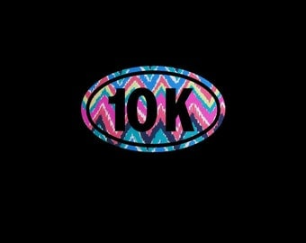 10K Euro decal makes the perfect statement on your car or gift for the running enthusiast!