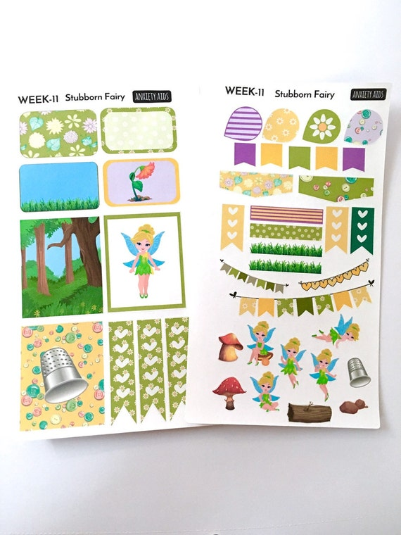 Stubborn green fairy weekly decorating kit m from