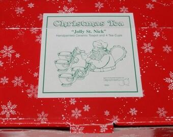 Christmas Tea Jolly St. Nick Department 56