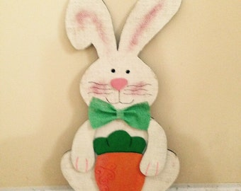 Wooden Bunny Decoration