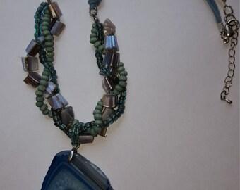 Vintage Azure/Agate necklace