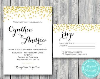 Custom Wedding Invitation Set, Wedding Invitation Printable, Bridal Shower, Baby Shower Invite, Wedding Invitation Suite WD47 WI21