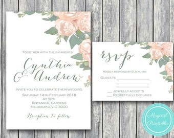 Custom Wedding Invitation Set, Wedding Invitation Printable, Bridal Shower, Baby Shower Invite, Wedding Invitation Suite TG04 WD11 WD000