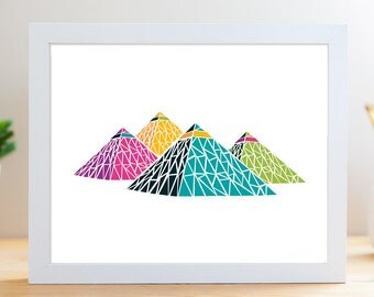 "Rainbow Pyramids // 8x10"" Archival Print"