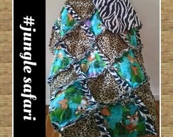 jungle theme rag quilt